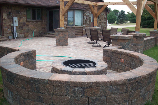 Stone Fire Pit Delivery