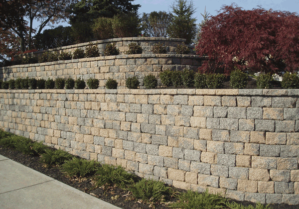Tumbled maytrx wall systems river bend kansas city 39 s for Landscaping rocks in kansas city