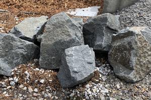 natural stone, boulder, landscaping
