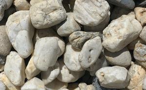 decorative gravel, decorative rock, Arkansa white rock, landscaping