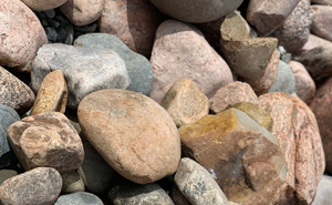 decorative rock, cobbles, landscaping