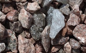 decorative rock, royal George rose, landscaping, decorative gravel