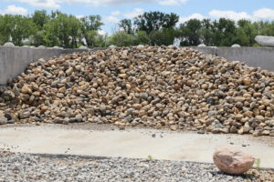 decorative gravel, rock, land scaping
