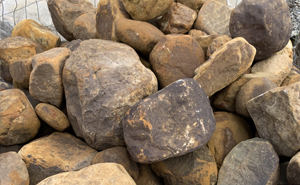 decorative rock, landscaping, boulders, Oklahoma Bed Rounds,